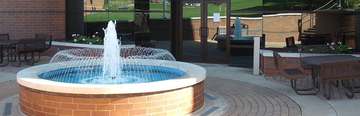 Malone-University-Regula-Hall-Fountain